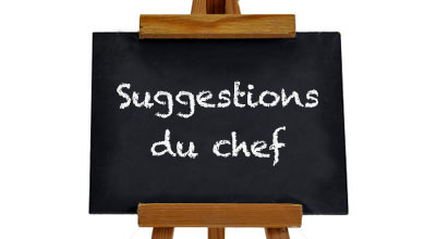 Suggestions du chef